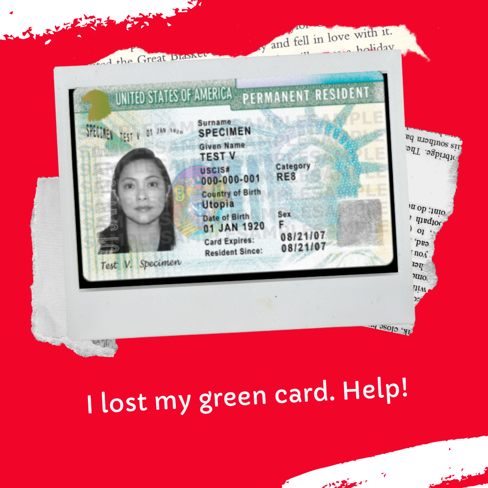How Do I Replace A Lost Green Card?